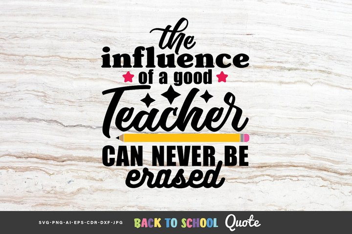 The influence of a good teacher - Quote