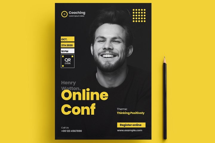 Online Conference Flyer Template