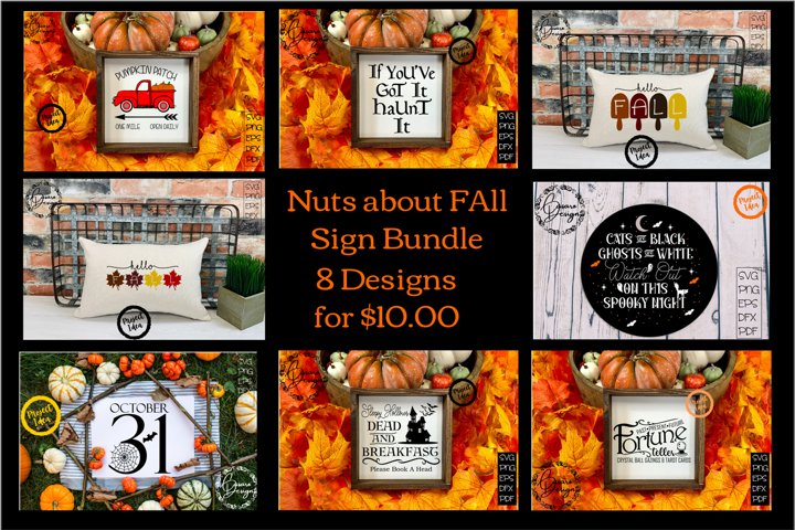 Fall and Halloween Bundle! SVG, PNG, PDF and MORE