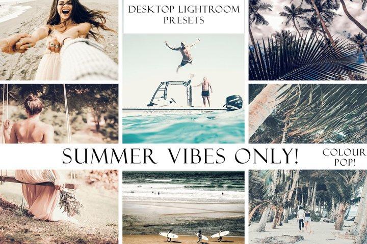 Summer Vibes Only! Color Pop Lightroom Desktop Presets
