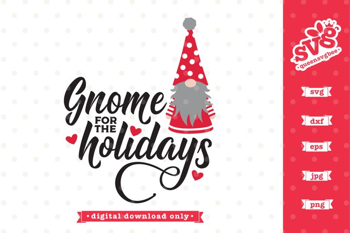 Gnome for the Holidays SVG design | Christmas SVG file