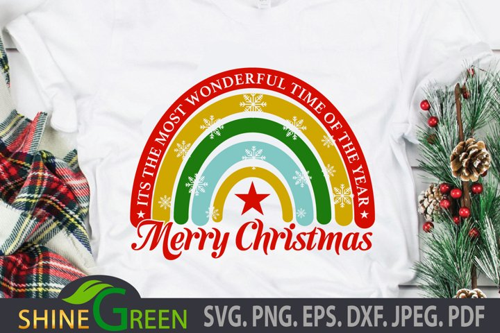 Christmas SVG Rainbow Quote SVG Cut File