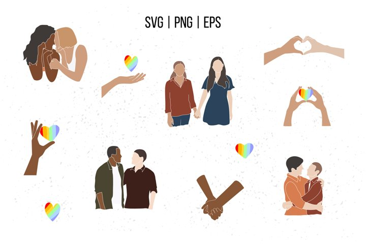 LGBT clipart, Valentine SVG