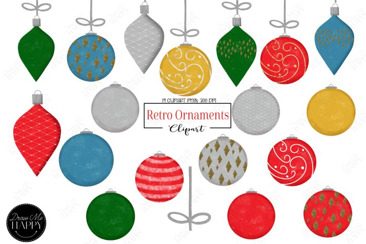 Christmas Ornaments Clipart, Christmas Clipart