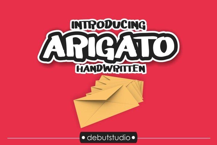 Arigato Handwritten Font example