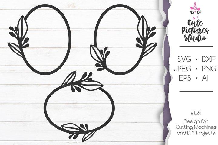 Simple oval frame SVG cut file, Cricut Bundle frame