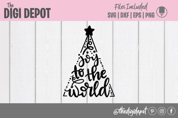 Joy To The World SVG, Christmas SVG, Christmas Tree SVG