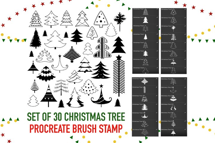 Christmas Tree Stamps Brushes Procreate