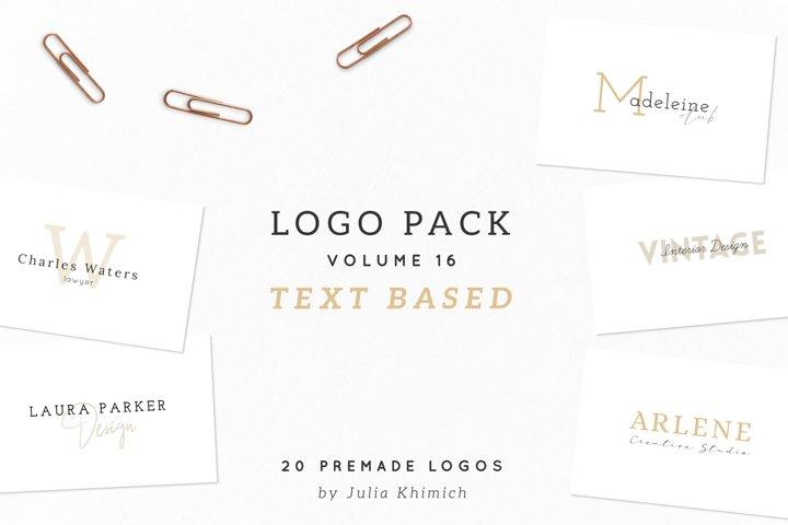 Logo Pack Volume 16. Text Based