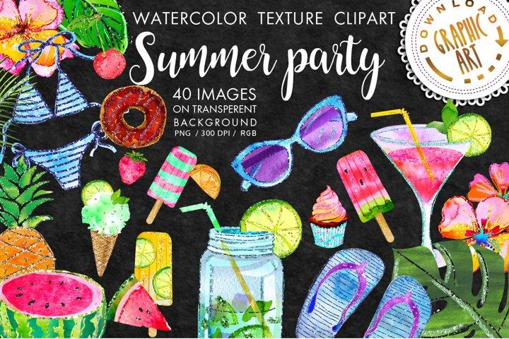 Summer party Clip Art