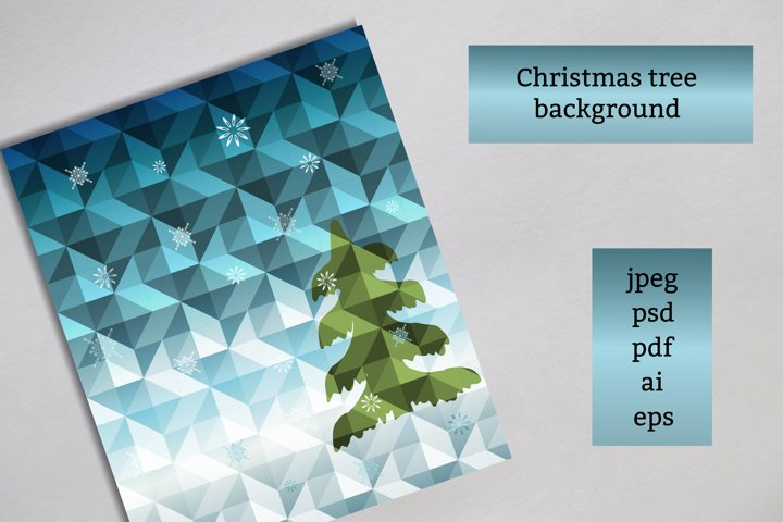 Christmas tree background card template