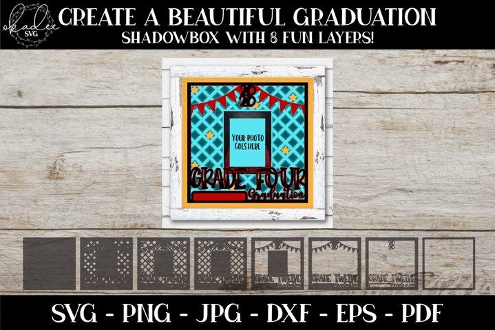 Grade Four Graduation SVG, Photo Frame SVG, 3D Mandala SVG