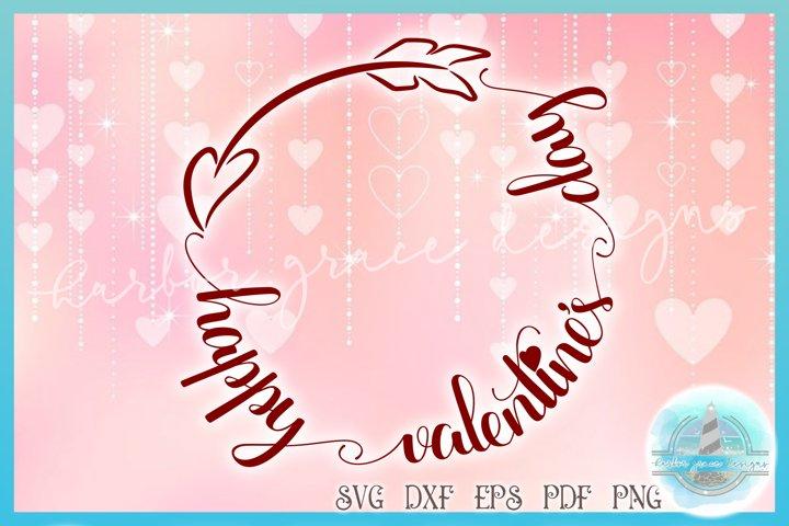 Valentines SVG | Happy Valentines Day with Arrow SVG