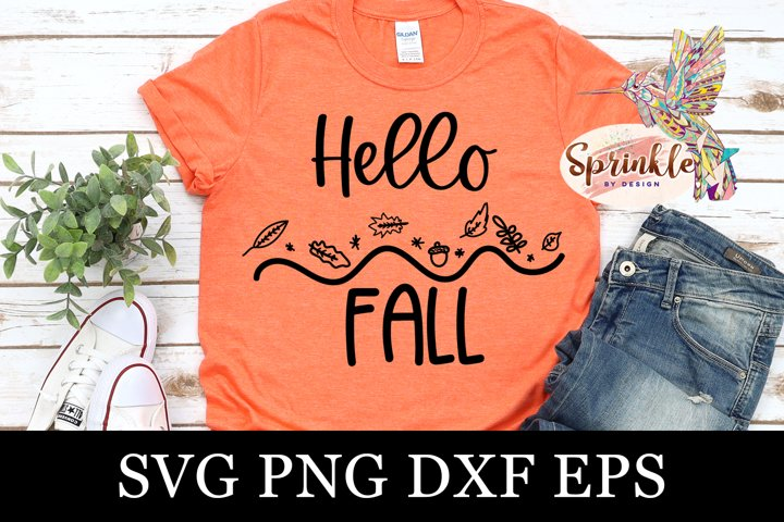 Hello Fall SVG - Fall SVG