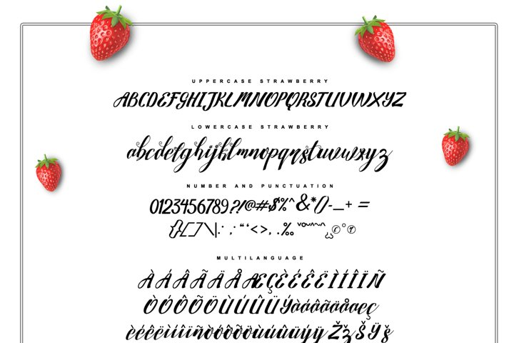 Strawberry Family - Free Font of The Week Design3