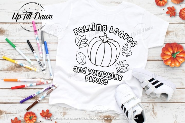 Pumpkin Coloring SVG