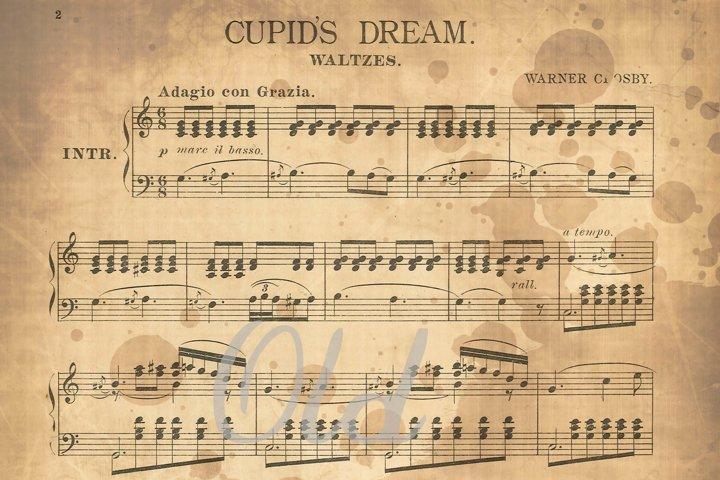 Antique Music Digital Paper - Free Design of The Week Design1