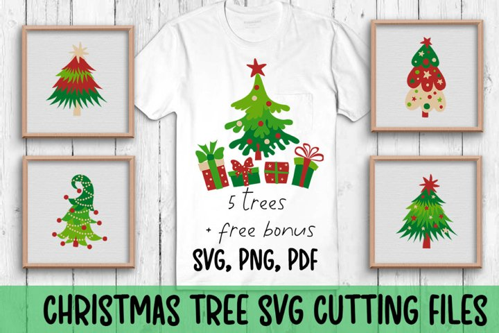 Christmas trees svg cutting files