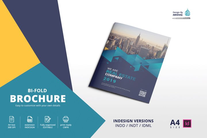 Brochure A4 Bifold Indesign Template