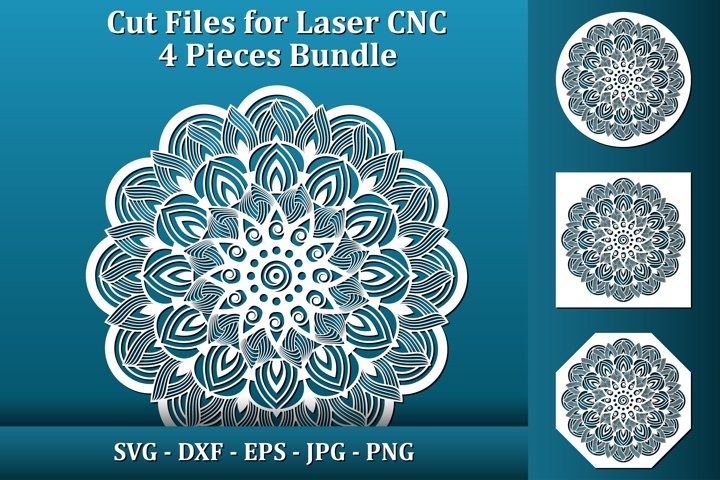 Mandala Coasters SVG files for Laser CNC cut