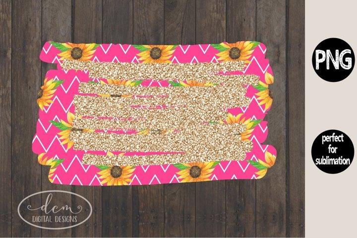 Sunflower Background Glitter Pink sublimation PNG