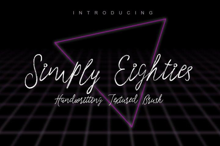 Simply Eighties Typeface