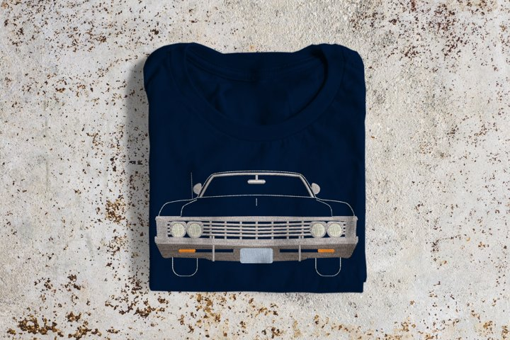 Classic Muscle Car Embroidery