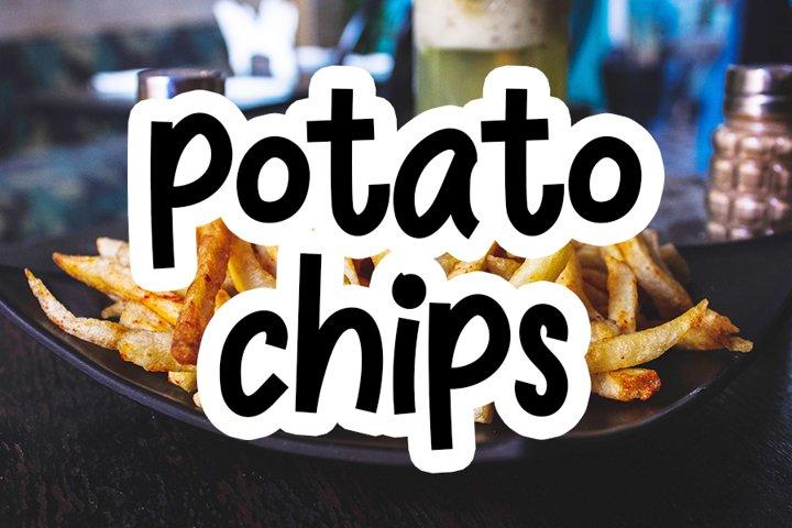 Potato Chips - Beautiful Cute Font