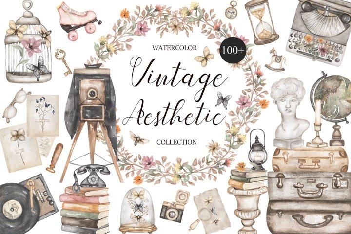Watercolor Vintage Aesthetic Set
