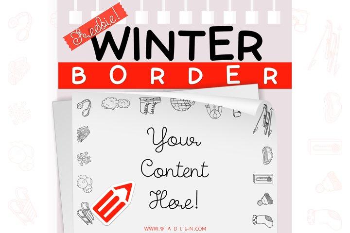 Winter - Border Template