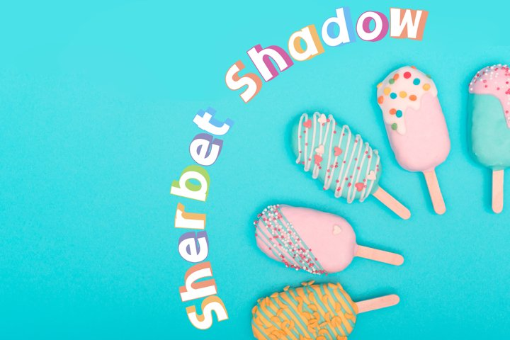 Sherbet Shadow SVG Font Duo