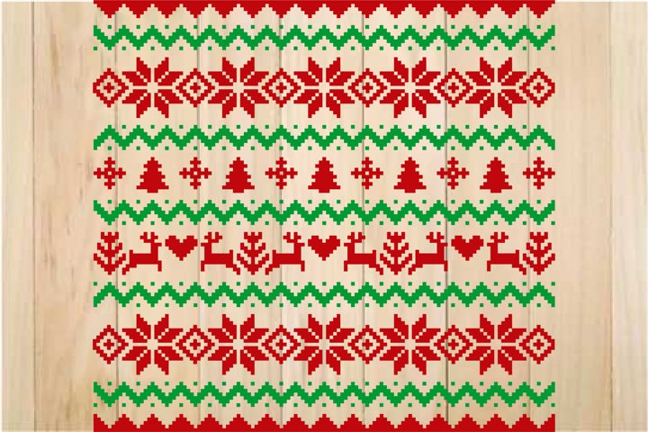 Ugly Christmas Sweater Design SVG