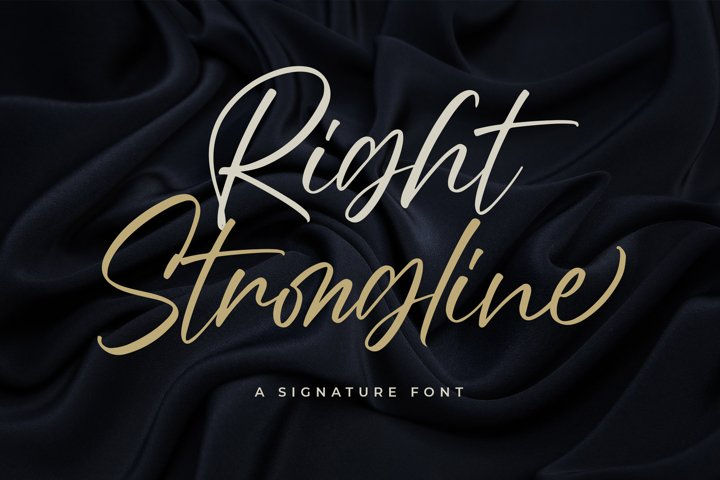 Right Strongline - a Signature Font