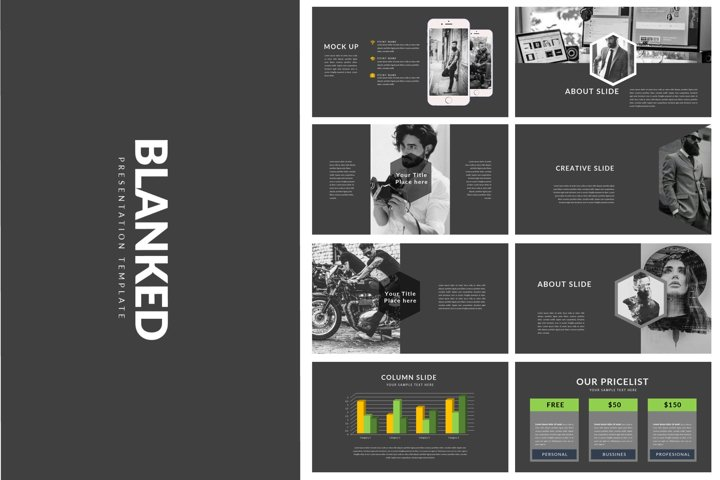 Blanked Dark Style - Minimal Powerpoint Template