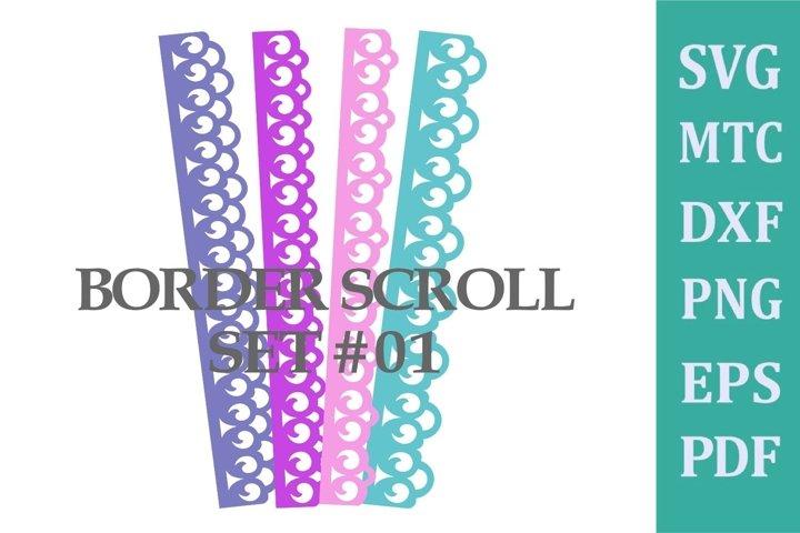 Border Scroll for Scrapbook/Card Making Set #01 SVG File