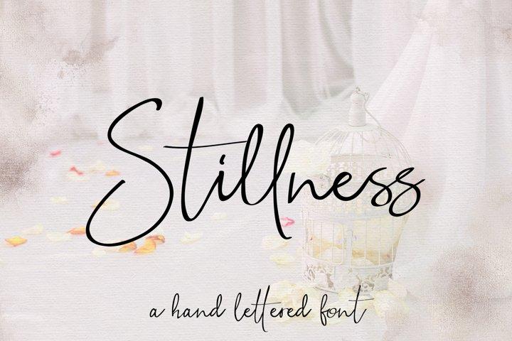Stillness Script Font