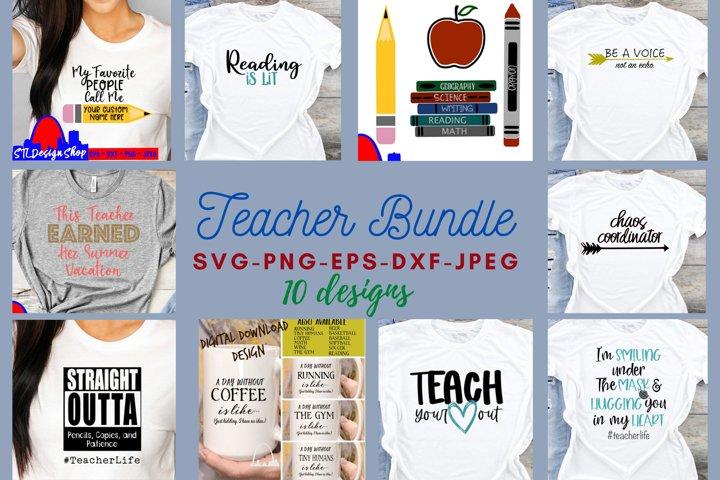 Teacher Bundle svg files SVG DXF PNG Back to School bundle