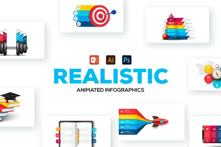 Realistic Animated Infographics