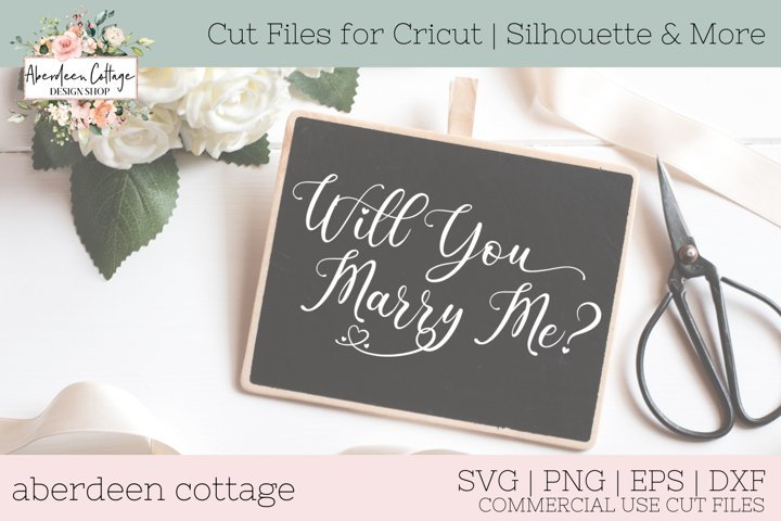 Will You Marry Me Decorative Wedding Proposal SVG