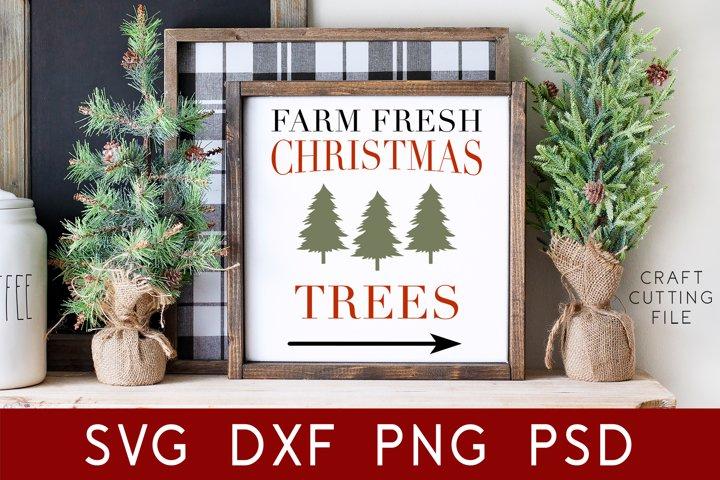 Christmas Sign Svg   Farm Fresh Christmas Trees Svg   Xmas