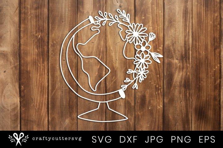 Paper Cut Design | Floral Globe Svg Cut FIle