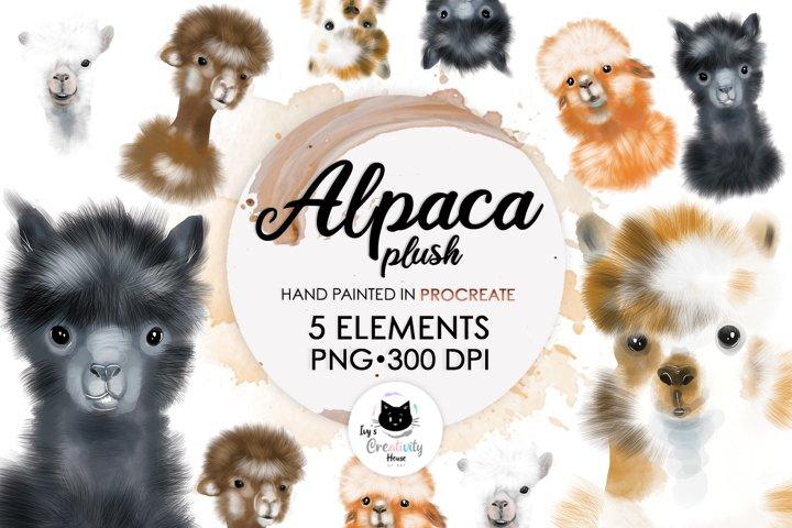 Cute Alpaca Sublimation Bundle PNG | Llama Animal Clipart