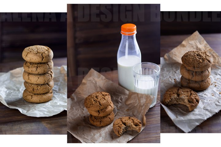 16 items Cookies and Milk Rustic style