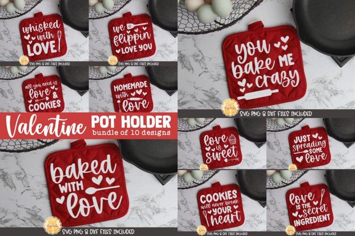 Valentine SVG | Valentines Day Pot Holder SVG Bundle