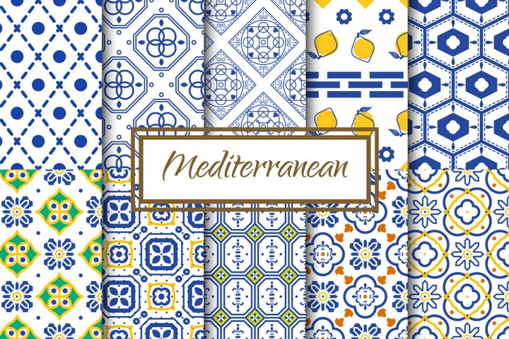 Mediterranean Seamless Patterns