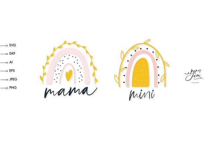 mama and mini SVG, Girl Mama SVG, Mothers day shirt svg