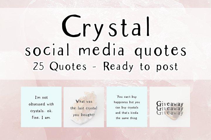 25 x Blue Crystal Social Media Quotes