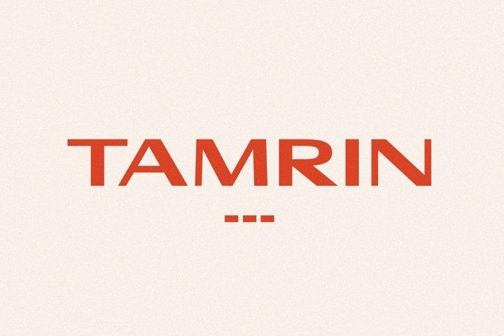 TAMRIN - Modern Sans Font