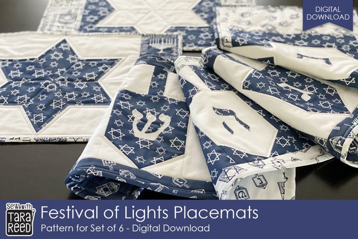 Festival of Lights Placemat Set Pattern - sewing pattern