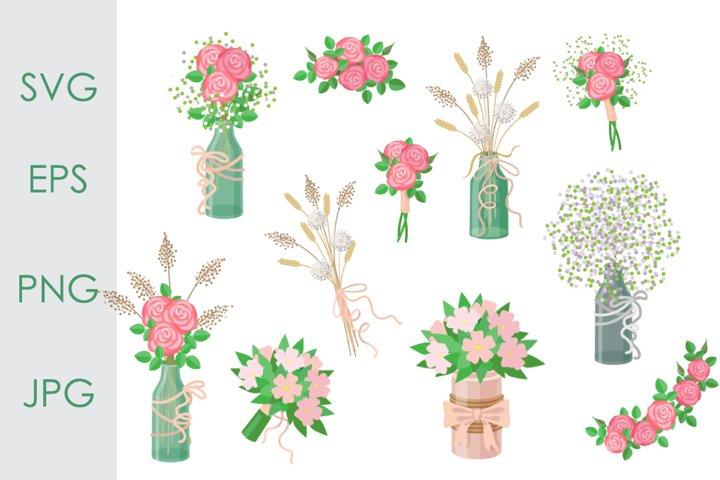 Simple Rustic Bouquets Set